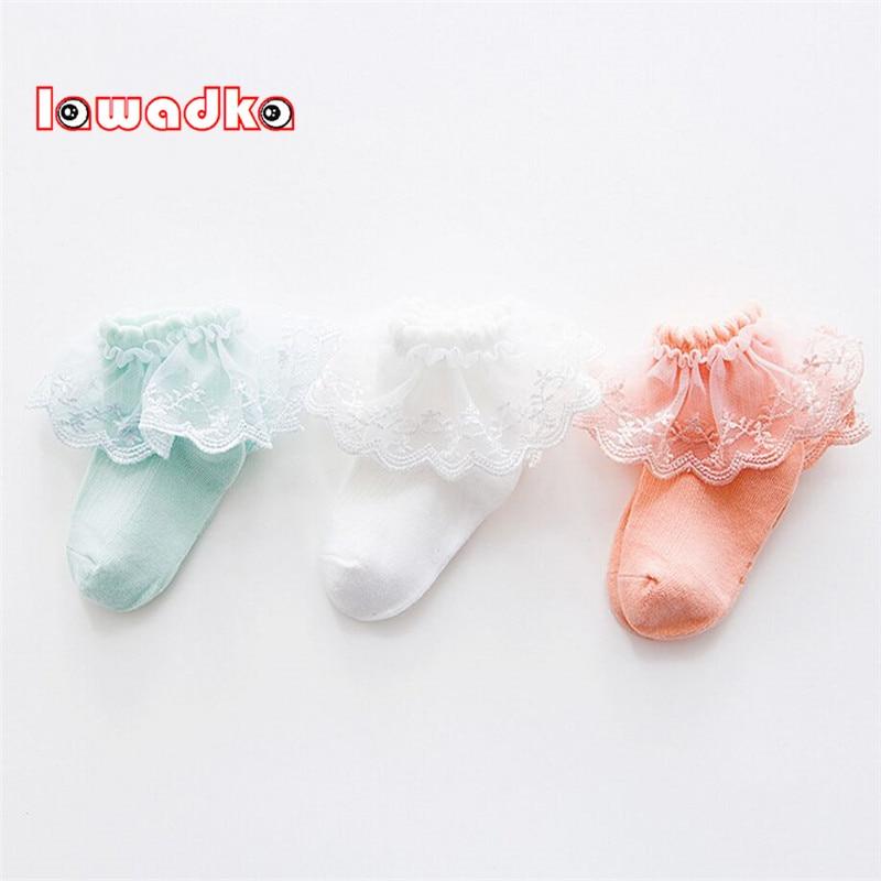 Lawadka 3Pairs/lot Lace Kid Socks Mesh Thin Cotton Girls Socks 1to10Years