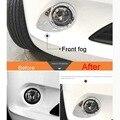 2 Pcs DIY Car Styling Novo Espelho ABS Cromado Frente Caixa de Luz de nevoeiro Cobrir Caso Adesivos Para Peugeot 301 2014 Parte acessórios