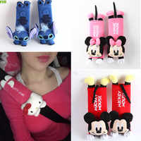 FLYJ cute Cartoon Car Sefety Seat Belt cover Child isofix Seat belt Shoulder Pad Protection Plush Padding car Accessories