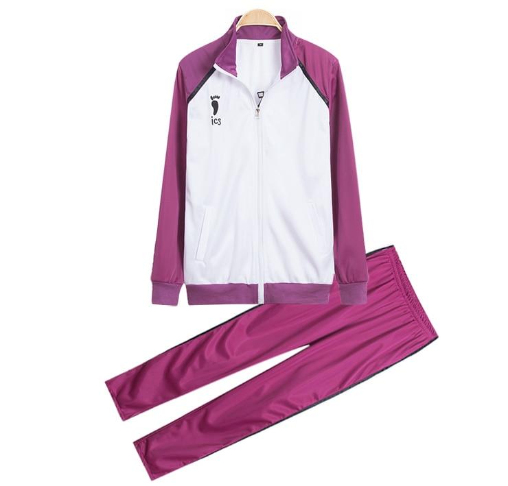 Haikyuu!! Shiratorizawa Gakuen Koukou School Uniforms Cosplay Costume Wakatoshi Ushijima Jersey Sportswear ( Jacket + Pants )