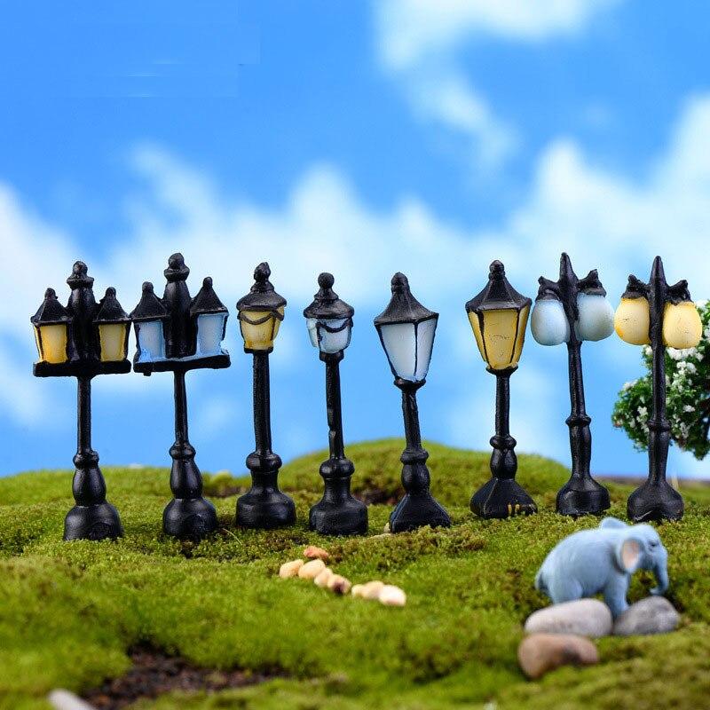 Lâmpada de luz de rua vintage, miniatura, jardim de fadas, casa, decoração, mini artesanato, micro paisagem, decoração, acessórios diy