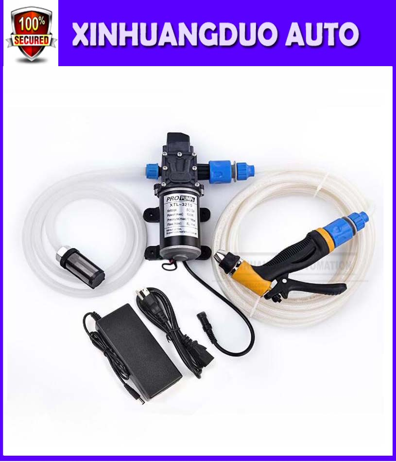 100w Portable 12 volt car washer with high pressure water pump coming with power adaptor 100