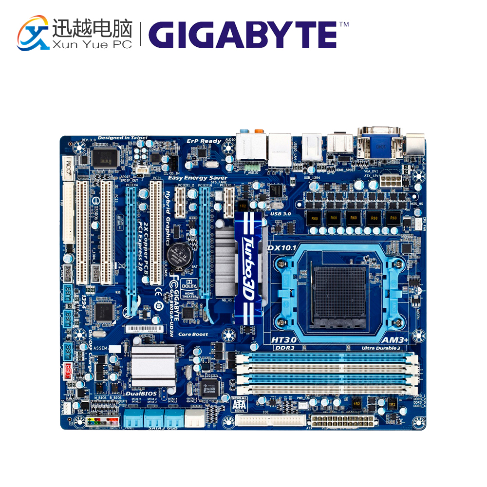 все цены на Gigabyte GA-880GA-UD3H Desktop Motherboard 880GA-UD3H 880G Socket AM3+ DDR3 SATA3 USB3.0 ATX онлайн