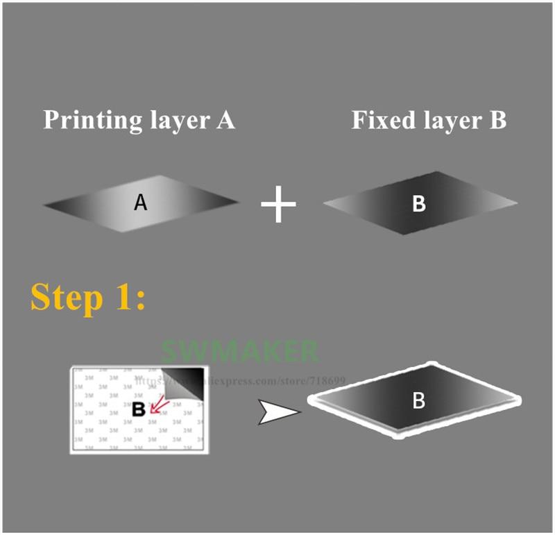 impressão Adesivo Construir Placa Fita Flex Placa 3D peças Da Impressora