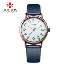 JULIUS watches women fashion watch 2017 Large Easy Read Number Rose Gold Antique Wristwatch Orologi donna Bayan Kol Saati JA-911