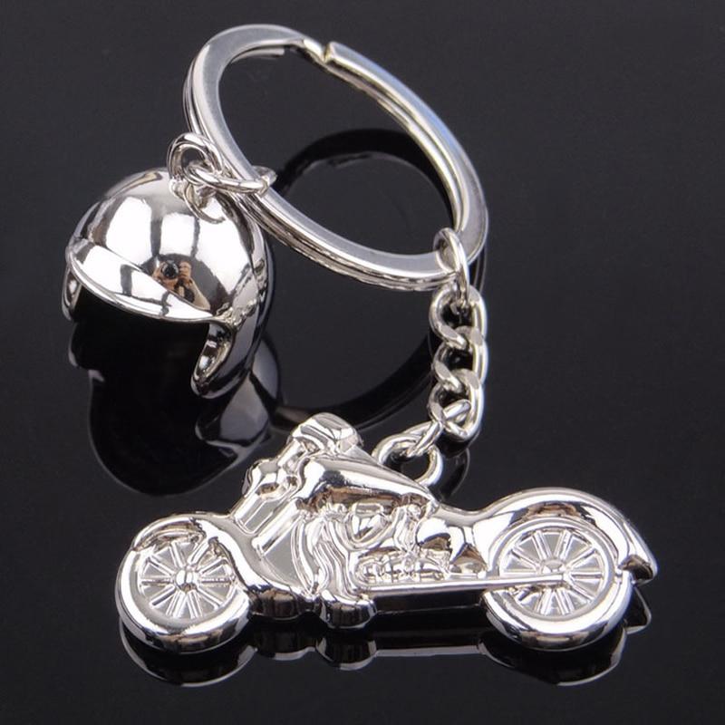 Personalizado cross country motocicleta capacete chaveiro engraçado da novidade homens de metal pingente chaveiro llaveros hombre pará porte claves