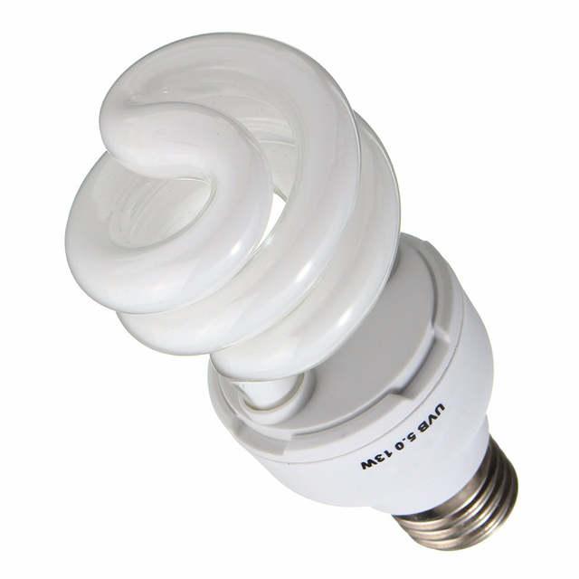 Online Shop Pet Light Bulb E27 13w Uvb5 0 Uvb10 0 Compact Light