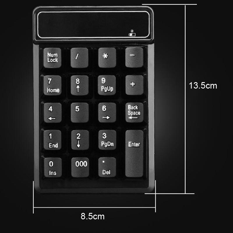 2 4GHz font b Mini b font USB Wireless Numeric Keypad 19 Keys Number Pad Numpad