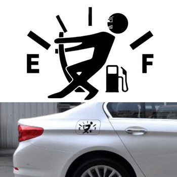 10CM*14CM Funny Car Stickers High Gas Consumption Decal Fuel Gage Empty Stickers image
