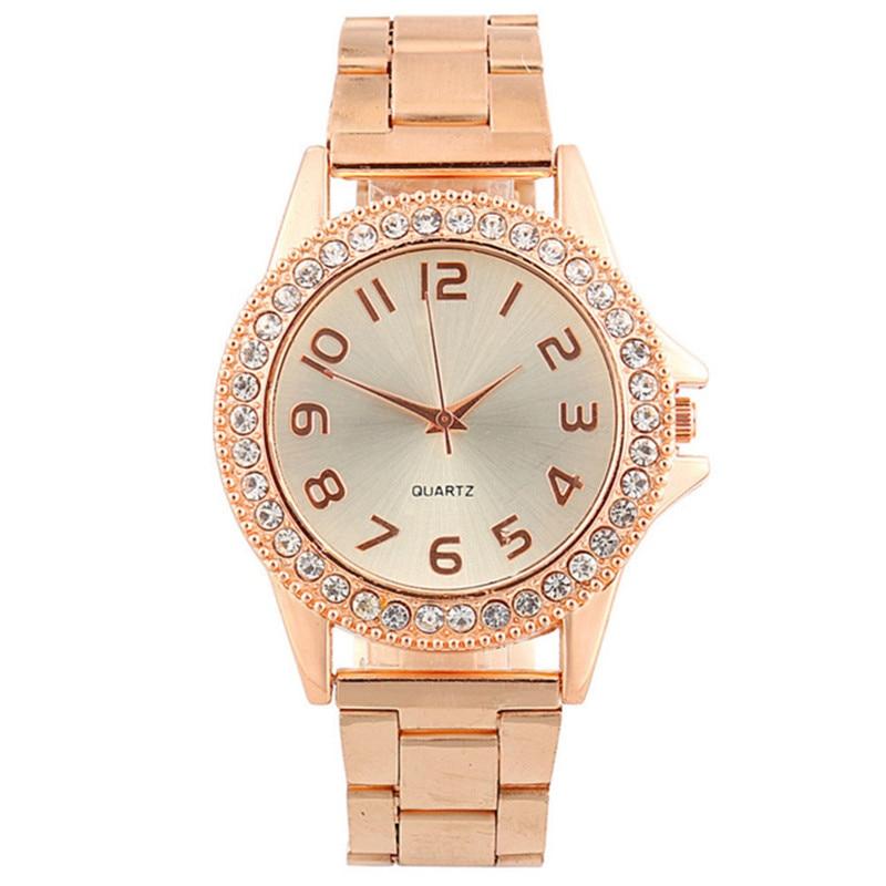 Relogios Femininos Hot Sales KANIMA Brand Gold Plated Watch Women Ladies Fashion Crystal Dress Quartz Wristwatches Relojes Mujer