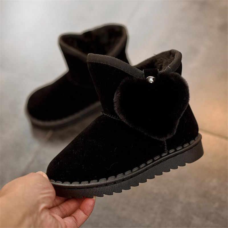 f5943e0fa ... Сапоги для девочек резиновые сапоги для маленьких девочек зимние сапоги  кожаные детские ботинки детская зимняя обувь ...