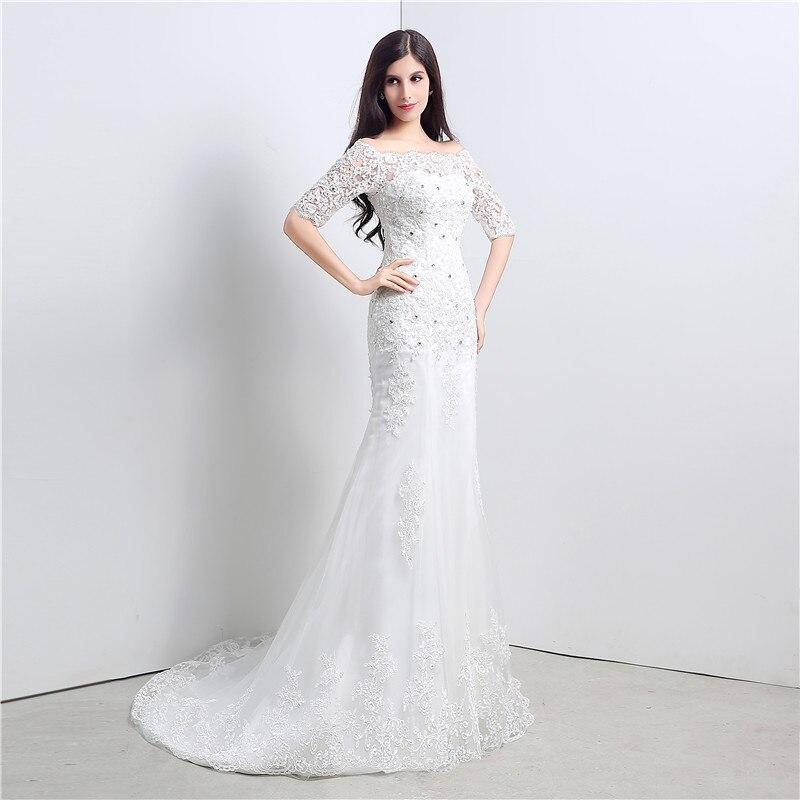 Vintage Lace Mermaid Wedding Dress Mermaid Cash On Delivery Vestidos