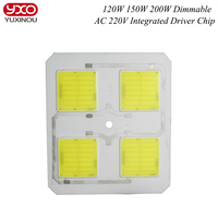 AC 220V 120W 150W 200W Driverless ceramic cob module chips integrated Driver led PCB circuit board For led high bay light lamp
