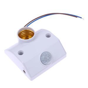 E27 AC 220v 50/60HZ 5LUX Motion Sensing Switch Infrared Motion Sensor Automatic Light Lamp Holder Switch White(China)