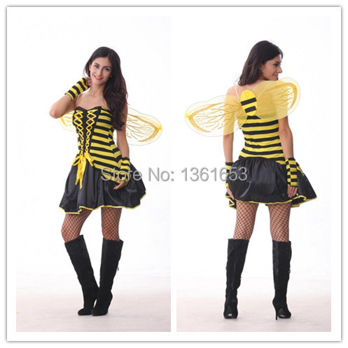 Yellow dragonfly With wings Bee COS stage Nightclubs font b cosplay b font uniform temptation Play