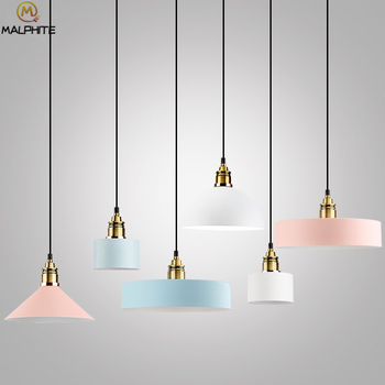 Modern Color Iron Pendant Lights For Dining Room Kitchen Fixtures Pendant Lamps For Living Room Hanging Indoor Deco Luminaire