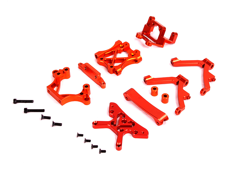 Baja Alloy Front Parts for baja 5B for 1/5 rovan baja km hpi baja front alloy arm set fit for 1 5 rc car hpi rovan baja upgrade parts