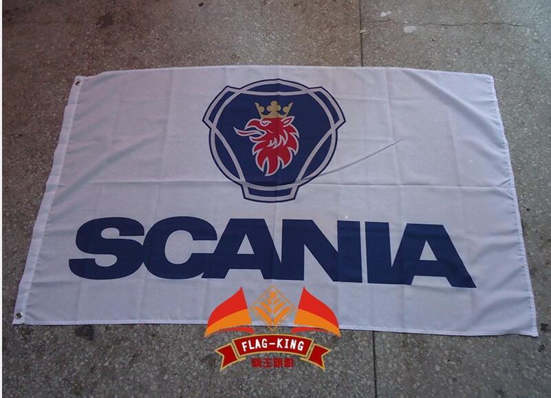 Флаг с логотипом для грузовиков scania, полиэстеровый баннер для грузовиков scania 90*150 см