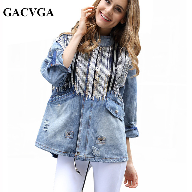 Giacca jeans hippie