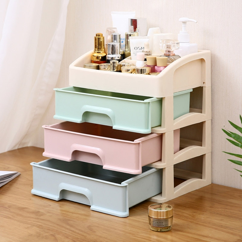 European Style Drawer Organizer Cosmetic Organizers Jewelry Box Skin Care Product Storage Drawers Plastic Box Storage Cabinets