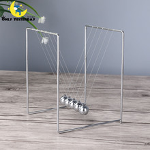 2016 Newtons Cradle Steel Balance Ball Physics Science Pendulum Enfeites Para Casa  Early Fun Development Educational Desk Toy