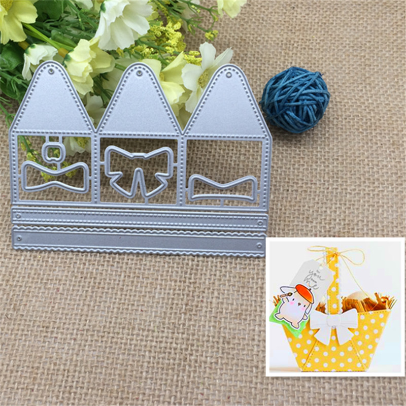 Hi June Store Lovely Basket  Metal Cutting Dies Stencil Scrapbooking Photo Album Card Paper Embossing Craft DIY