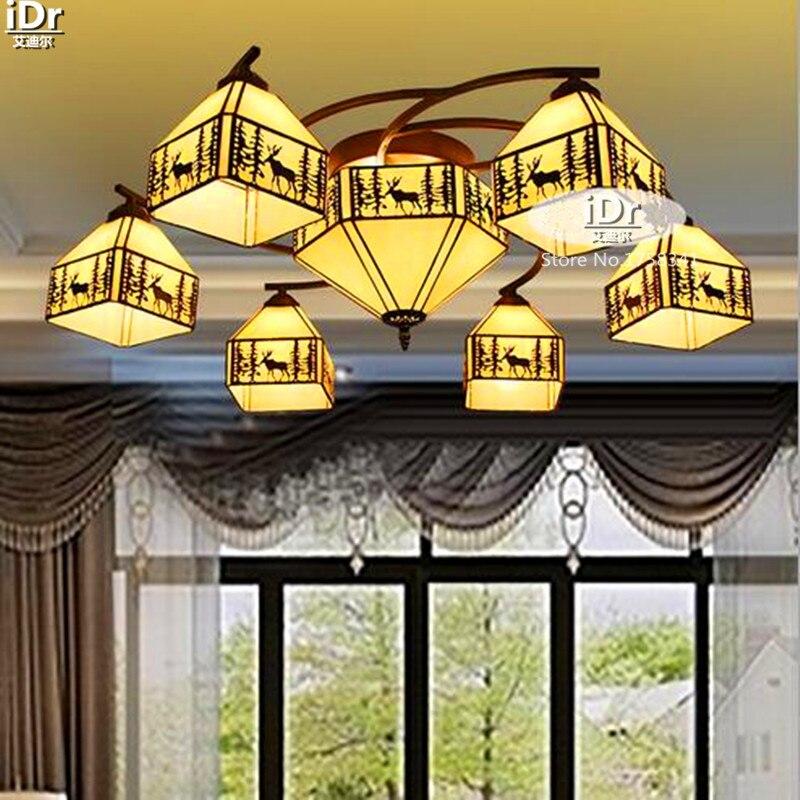 Idyllischen Mediterranen Landschaft Elch Lampe Scheinwerfer Mehr Pastoralen Wohnzimmer Restaurant Kronleuchter Wwy 0447