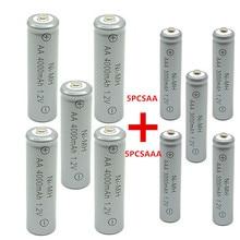 5 шт AA 4000 mAh Ni-MH аккумуляторные батареи+ 5 шт AAA 3000 mAh аккумуляторные батареи
