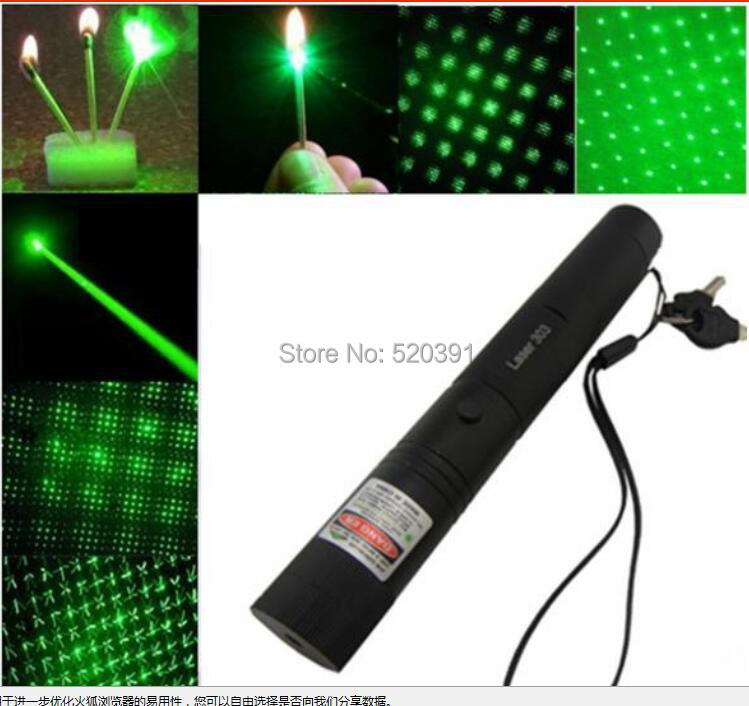 Cost Price 100000m 532nm High Powered Green Laser Pointer  303 2in1 LAZER Burning Match Burn Cigarette+Charger+Gift Box|Lasers| |  -