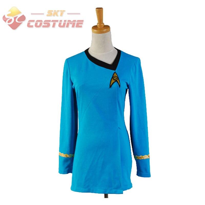 Uniforme de Star Trek découverte uniforme chemise rouge bleu Halloween Cosplay Costume pour adulte