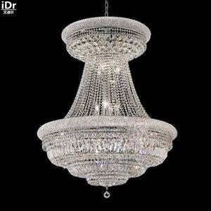Image 1 - Lustres suspendus lampe unique en métal cristal lampe porche lumières 90 cm l x 117 cm H chambre lumières chambre lumières