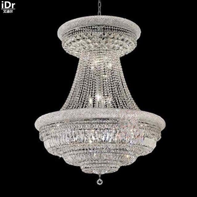 Lustres suspendus lampe unique en métal cristal lampe porche lumières 90 cm l x 117 cm H chambre lumières chambre lumières