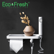 Ecofresh Handheld Toilet bidet sprayer set Bidet faucet for Bathroom hand Nozzle Paper holder phone