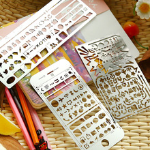Multifunctional Hollow Hand  Metal Drawing Template Stainless Steel Straight Ruler Diy