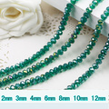 5040 AAA Top Quality Green Zircon AB Color Loose Crystal Glass Rondelle beads.2mm 3mm 4mm,6mm,8mm 10mm,12mm Free Shipping!