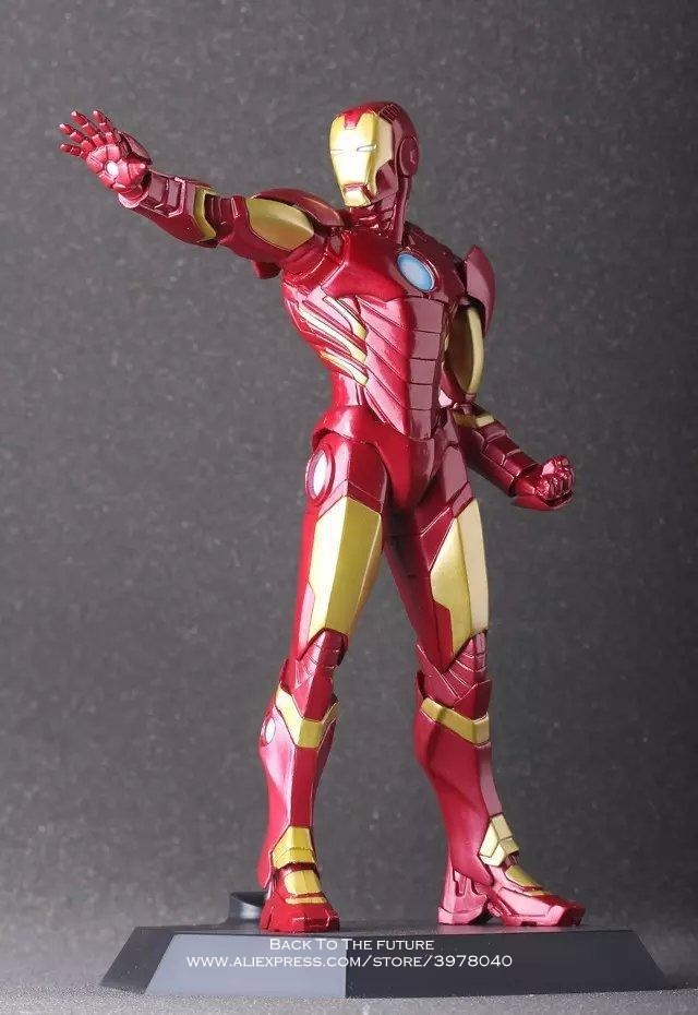 Disney Marvel Avengers Iron Man 3 Red Gold 22cm Action Figure Anime Mini Decoration PVC Collection Figurine Toy model gift 30cm big size marvel iron man movable avengers movie anime figure pvc collection model toy action figure for friends gift