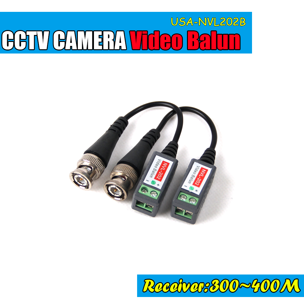 imágenes para Video Balun Trenzado de Vídeo Balun Transceptores pasivos CCTV UTP Video Balun hasta range 3000ft cámara DVR CCTV BNC Cat5