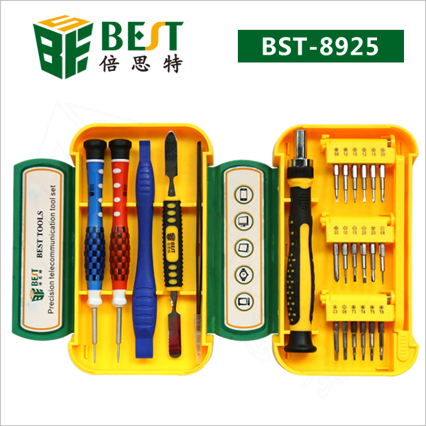 BEST 8925 24 pcs Multitool Portable Precision Telecommunication Repair Screwdriver Crowbar Tool Set Cellphone Laptop Tools
