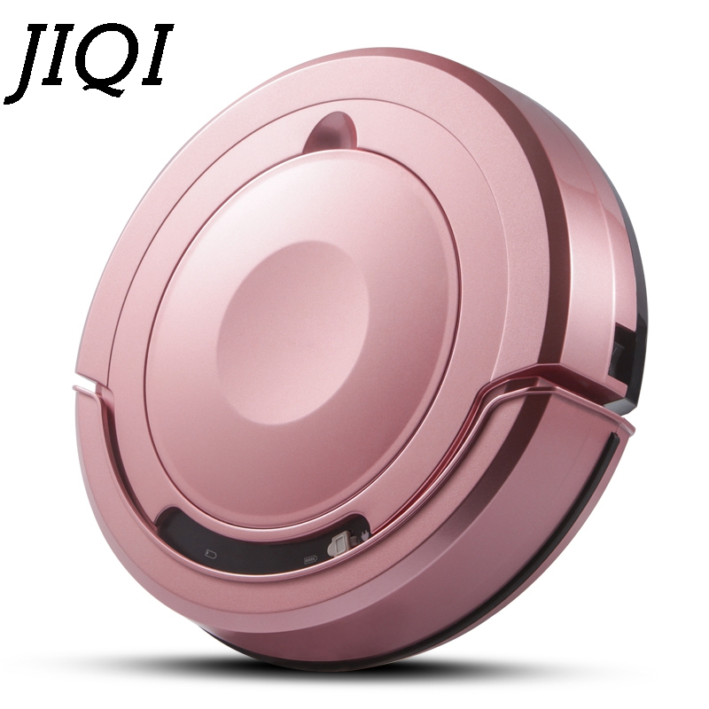 все цены на JIQI Robot Vacuum Cleaner Intelligent Wireless Sweeping Automatic Suction Dry Wet Mop Sweeper Dust Catcher Collector Aspirator онлайн