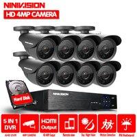 Sistema de Câmera de Segurança 8ch CCTV Sistema NINIVISÃO 8x4.0 MP Câmera de CCTV Sistema de Vigilância Kit Camara Seguridad Casa 2 TB HDD