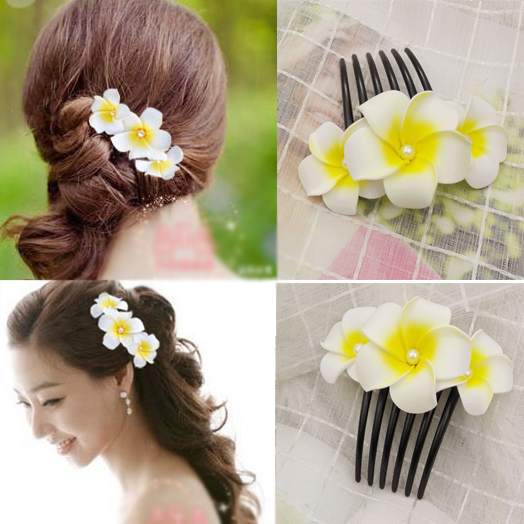 1pcs Korean bridal hair decoration flower hair comb chicken egg flower wedding accessories wedding dress photo jewelry head ...