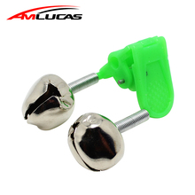 1 sztuk Fishing Bite alarmy wędki dzwony Rod zacisk TIP Clip Bells Ring Glow w ciemnozielonym ABS wędkarski narzędzie WW1022 tanie tanio Wędkarstwo Reservoir Pond Plastikowe W Amlucas