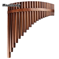 Chinese Traditional Musical Instrument 22 Pipes Pan Flute C Key High Quality Pan Pipes Woodwind Instrument Bamboo Pan flute