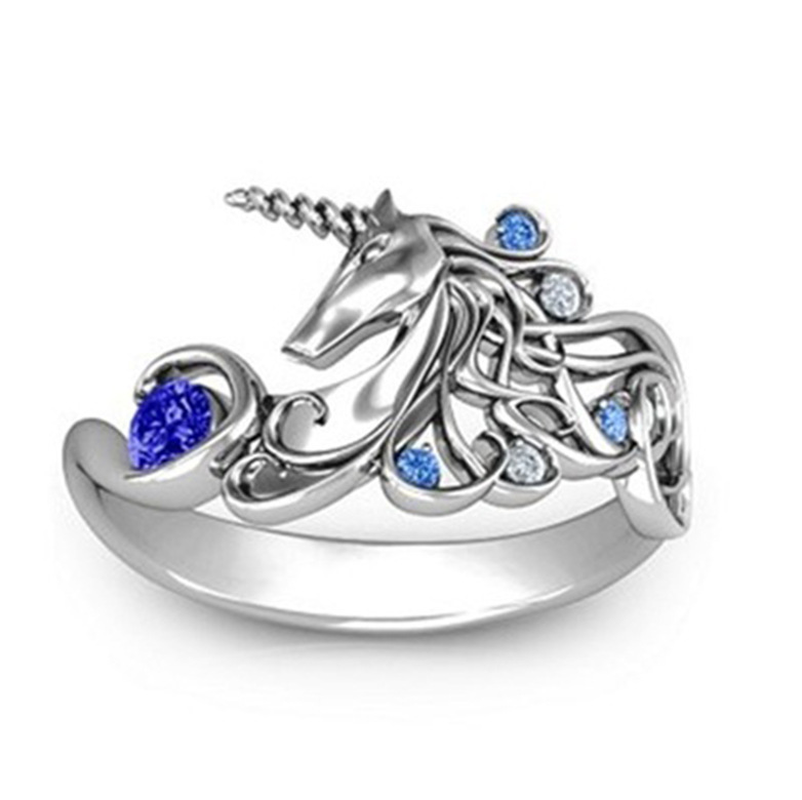Best Selling Creative Girl Boy Fairy Cute Ring Rings For Women Unique Inlaid Blue/Yellow Zircon Rings Fashion Brand Jewelry