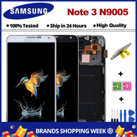5.7 Black White For Samsung Galaxy Note 3 N9005 LCD Display Touch Screen Digitizer with Bezel Frame Assembly Free Shipping