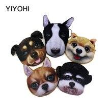 YIYOHI New Cute Style Novelty 3D Animals Cat Dog Zipper Plush Coin font b Purse b