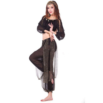 2pieces Suit Belly Dance Costumes Oriental Dance Costumes Bollywood Dance Costumes B Belly Dance Costume Set Top Bra + Pant belly dance top ats tribal belly dance top lace choli lantern sleeve top women s belly dance costume fqq03