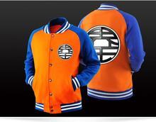 Dragon Ball Z Anime Goku DBZ kame Kanji Son Goku Cosplay Costume fleece jacket coat hoodies