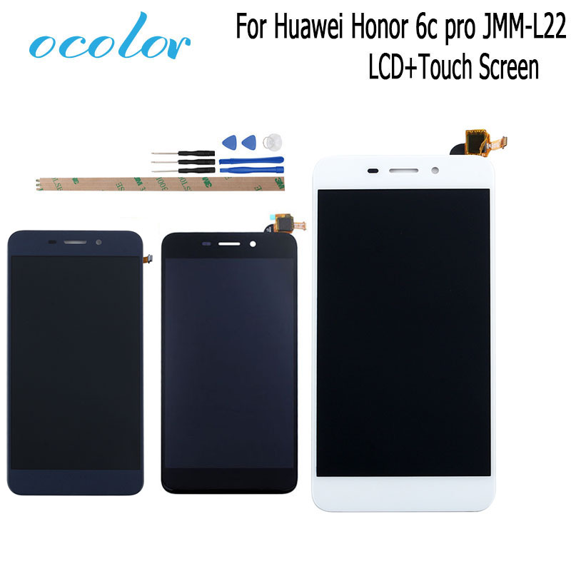 ocolor For <font><b>Huawei</b></font> <font><b>Honor</b></font> <font><b>6c</b></font> <font><b>pro</b></font> JMM-L22 <font><b>LCD</b></font> Display and <font><b>Touch</b></font> Screen 5.2'' Digitizer Assembly Replacement+Tools+Adhesive No Frame image