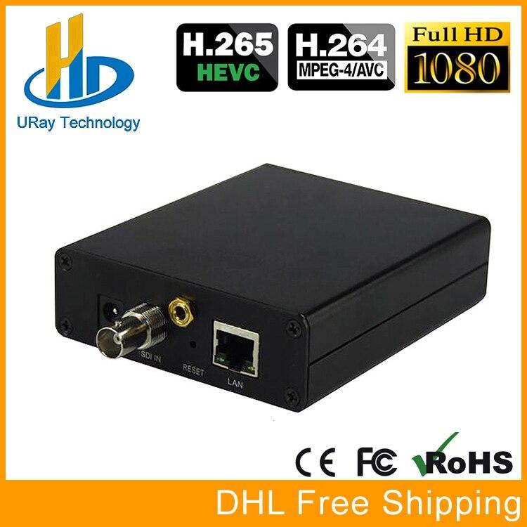 URay RTSP RTMP UDP Codeur H265 H264 SD HD 3g SDI À IP Codeur H.265 H.264 Encodage Pour IPTV solutionn Et Vidéo Live Streaming